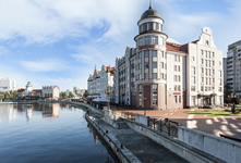 Отель-замок Кайзерхоф, вид с набережной