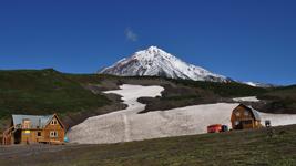 Приют три вулкана, вид на вулкан