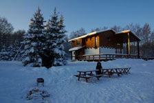 Шале Рояль зимой
