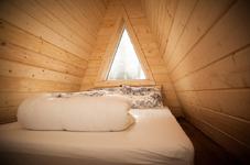 Шалаш на Ладоге, спальня на лофте