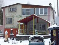 Коттедж Снеговик, внешний вид зимой