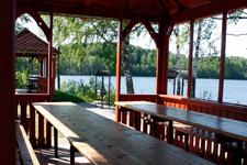 Дом на озере Сиркоярви, беседка