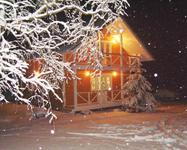 Березово, домик зимой