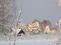 Территория Коттеджного комплекса зимой