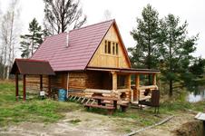 Русская дровяная баня, внешний вид