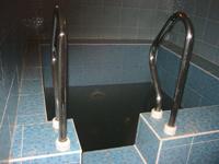 Русская дровяная баня, мини-бассейн
