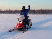 Тур на снегоходах в Карелии на весну