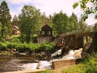 База отдыха на берегу реки